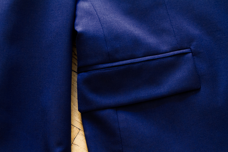 poche plaquée costume