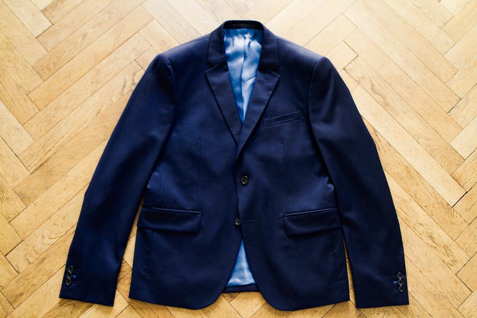 Veste Costume Cavalier Bleu
