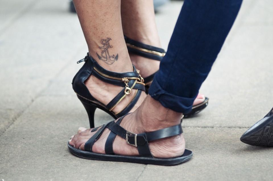 sandales cuir noir homme
