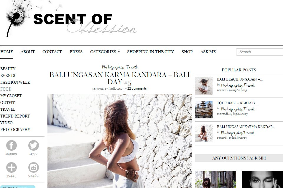 scent of obsession blog italie