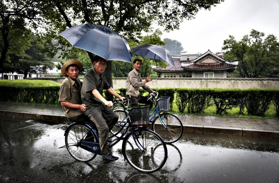 nord-coréens en vélo