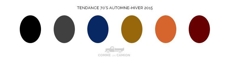 couleurs 70s automne hiver 2015