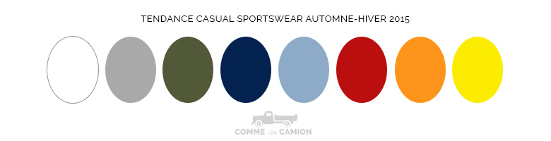couleurs tendance casual sportswear aw15