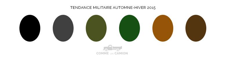 couleurs tendance militaire ah15