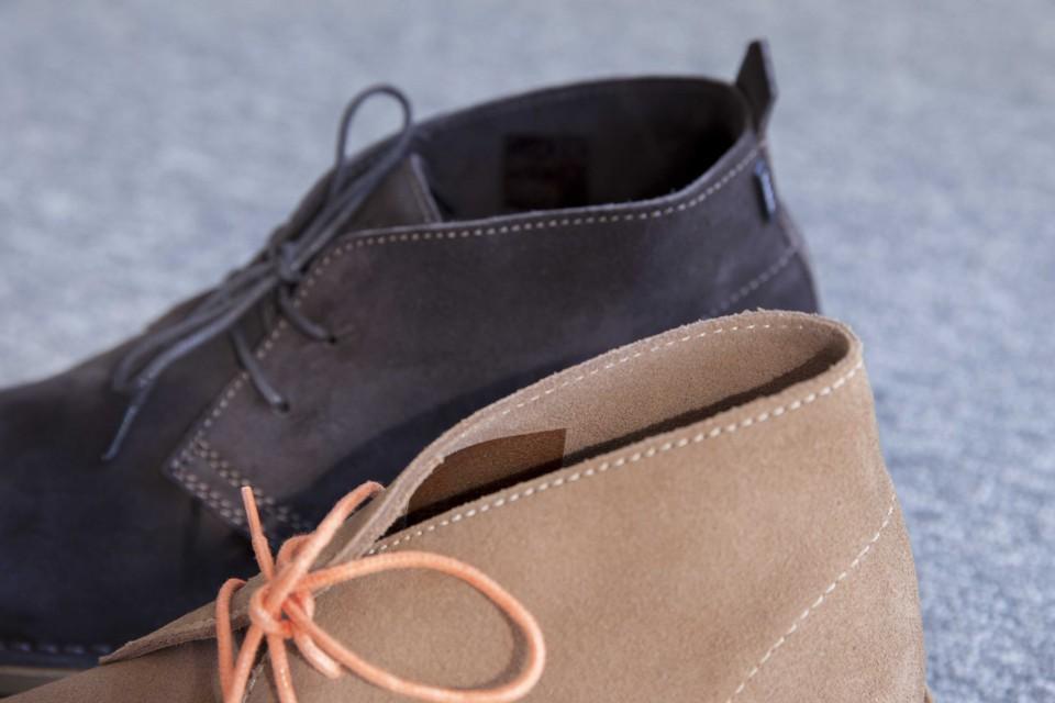 Cuir non doublé Desert boots