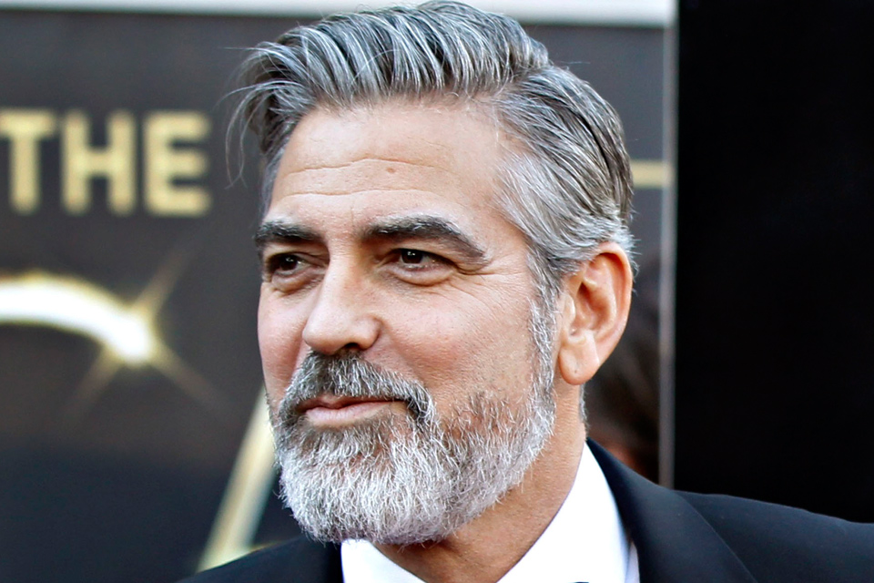 george clooney - Coloration Cheveux Blancs Homme
