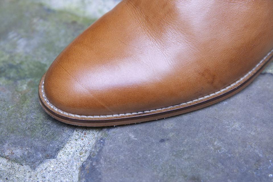 Chelsea boots Pied de biche couture