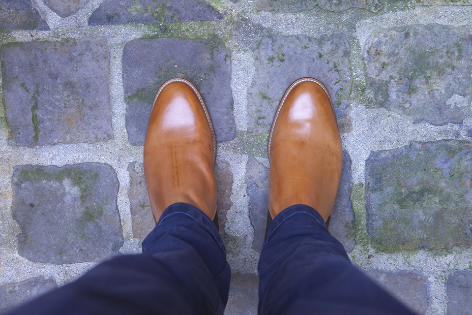 Chelsea boots Pied de biche look