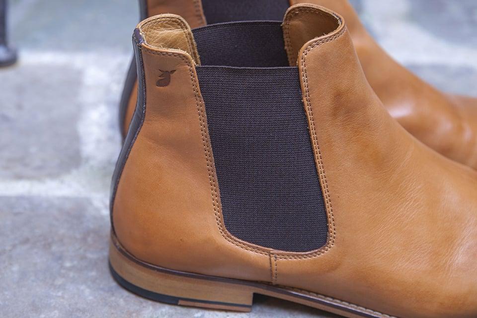 Chelsea boots Pied de biche logo