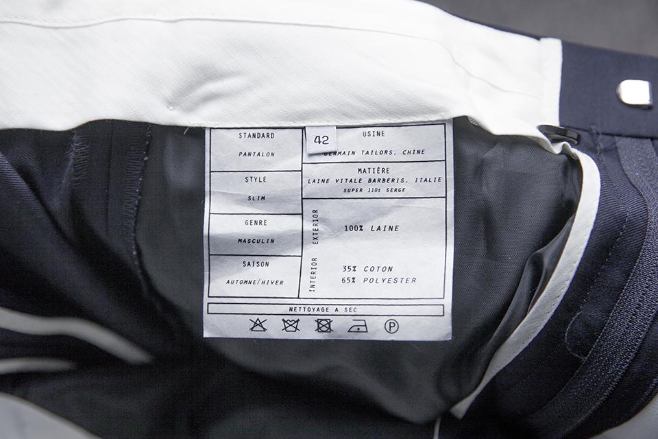 Costume Maison Standards Pantalon composition