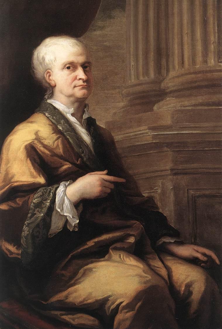 Isaac Newton dans son banyan
