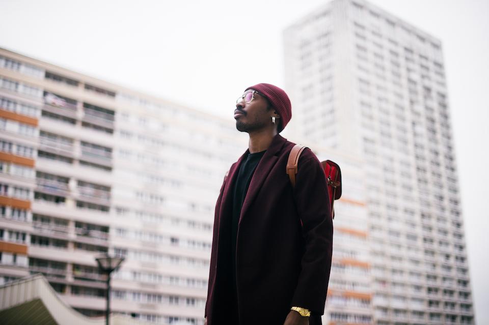 look veste bonnet homme bordeaux