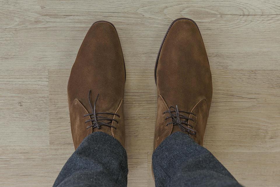 Chukka boots Carmina dessus