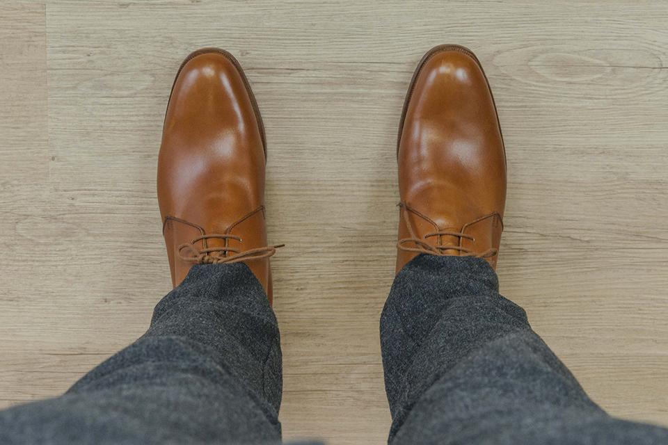 Chukka boots cuir Crockett Jones dessus
