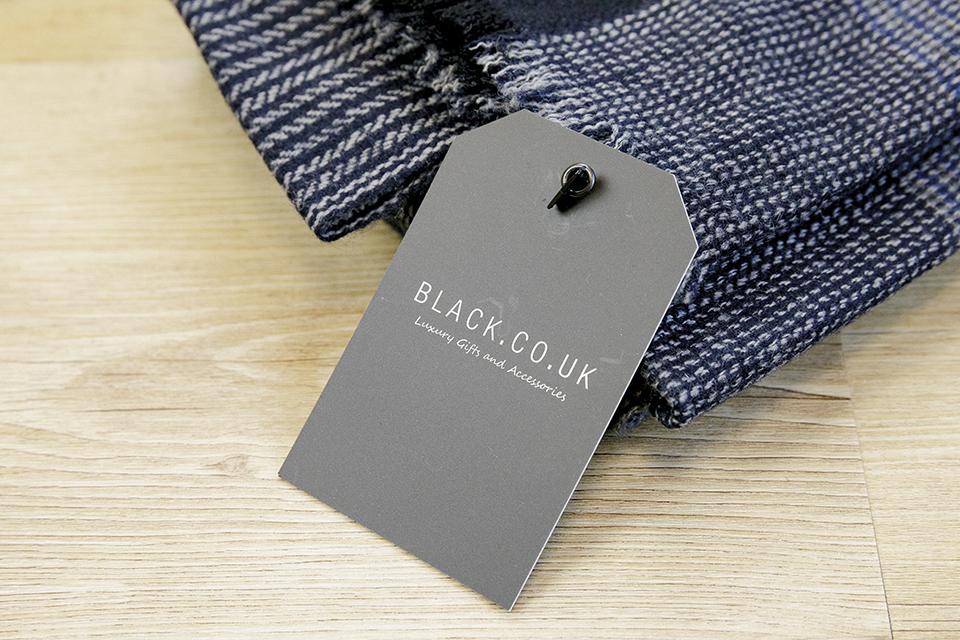 Echarpe Cachemire Black etiquette carton