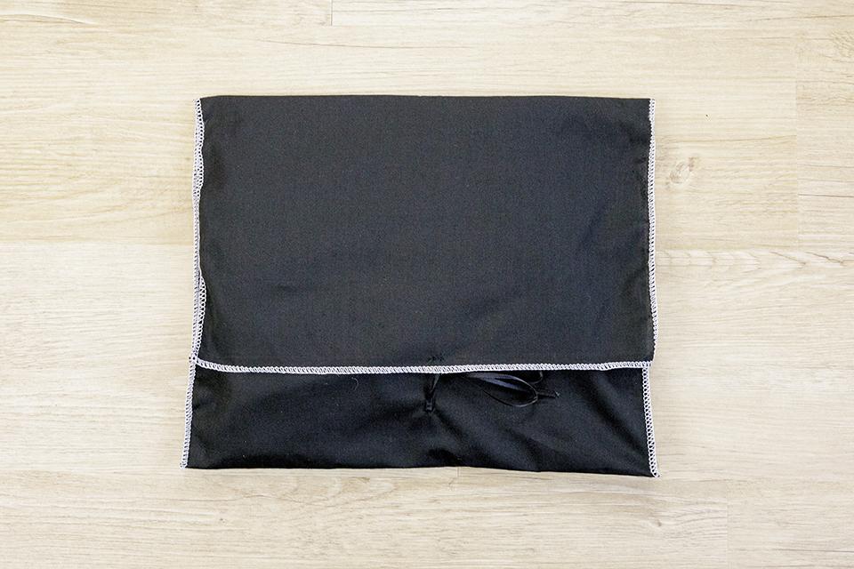 Echarpe Cachemire Black pochette