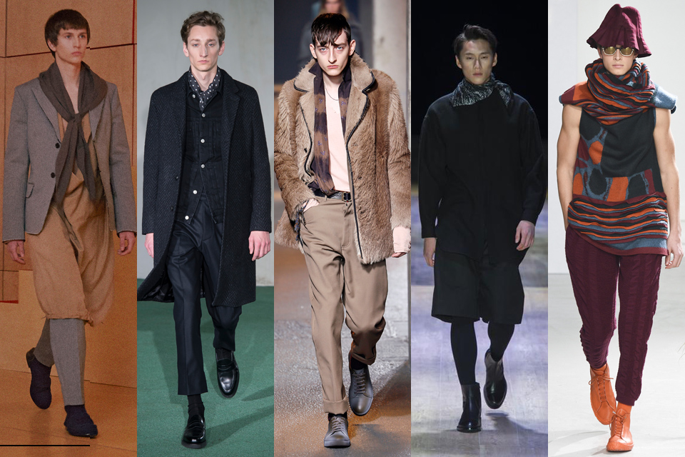tendance foulard fashion week homme paris