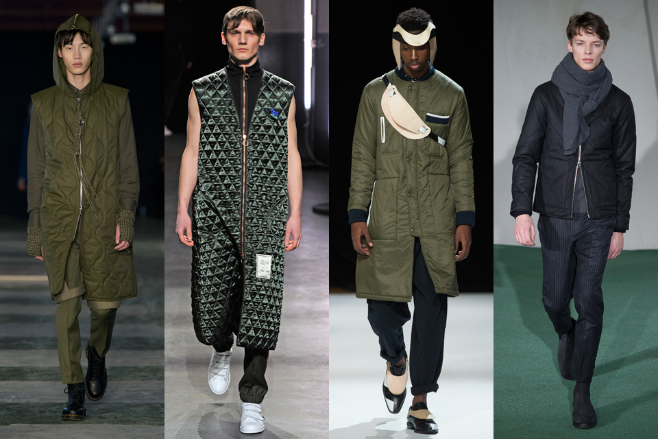 tendance matelasse fashion week paris homme