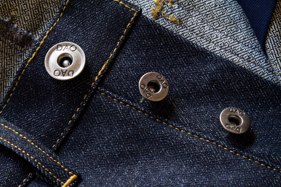 jeans selvedge dao boutons
