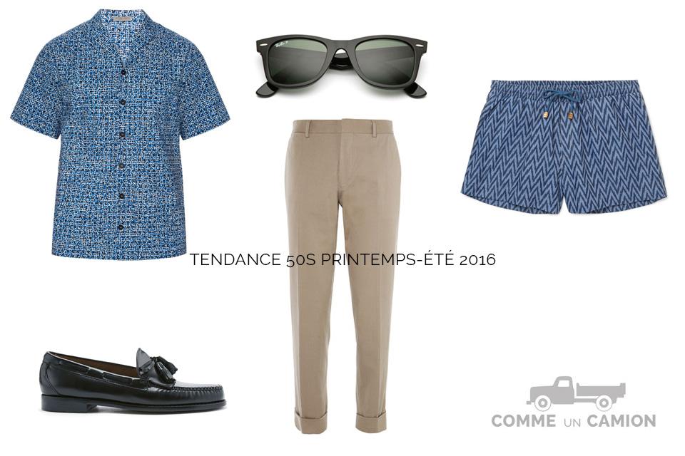 look 50s homme tendance 2016