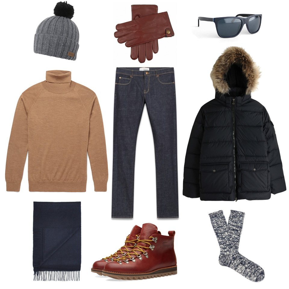 selecton homme ski station chic