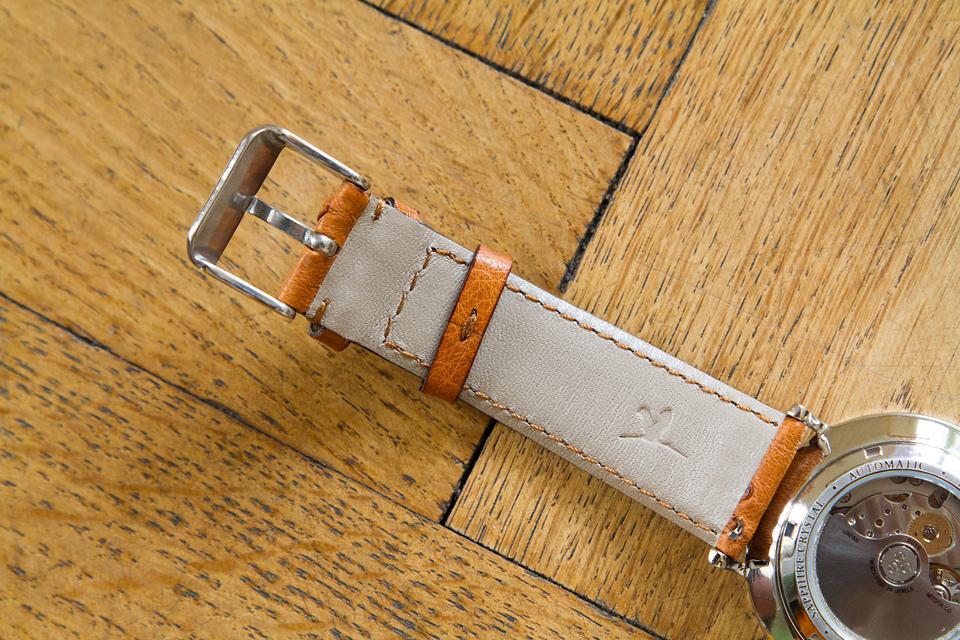Bracelet cuir autruche Charlie Watch