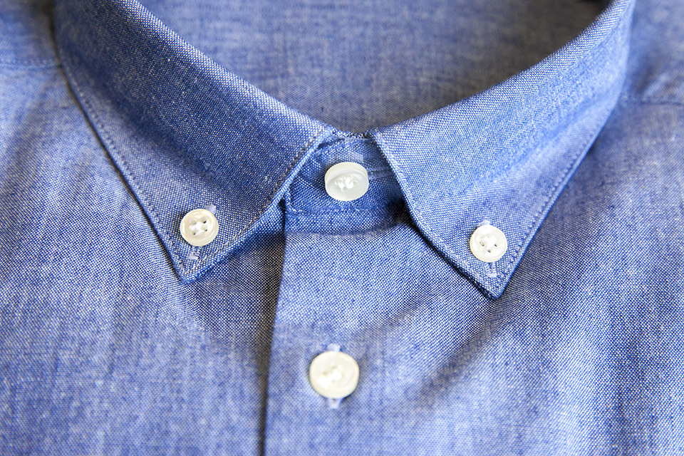 Chemise chambray Office Artist col boutons