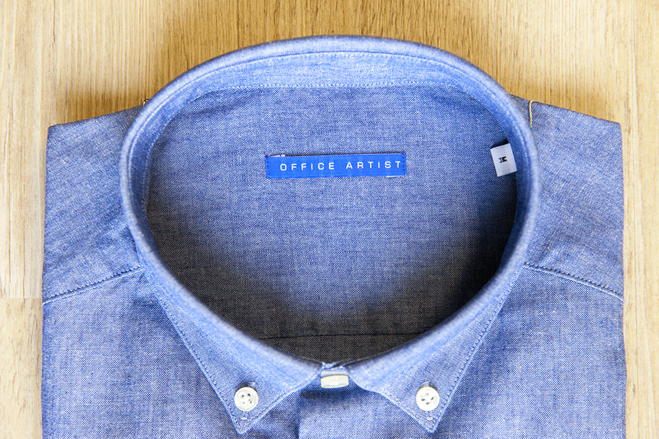 Chemise chambray Office Artist col interieur