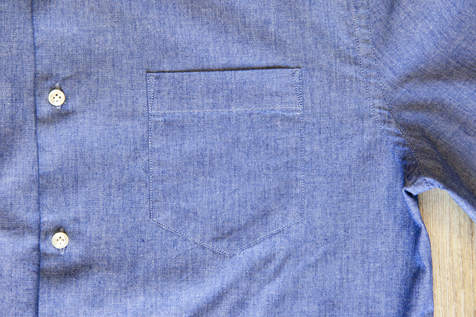 Chemise chambray Office Artist poche poitrine