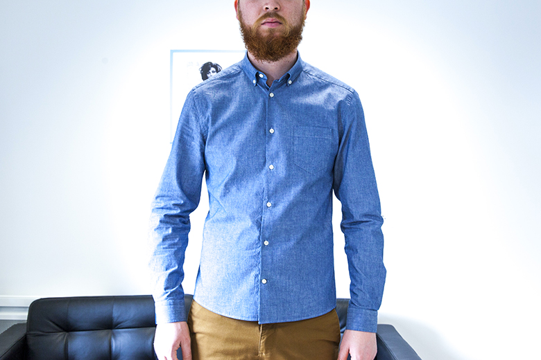 Chemise chambray Office Artist look