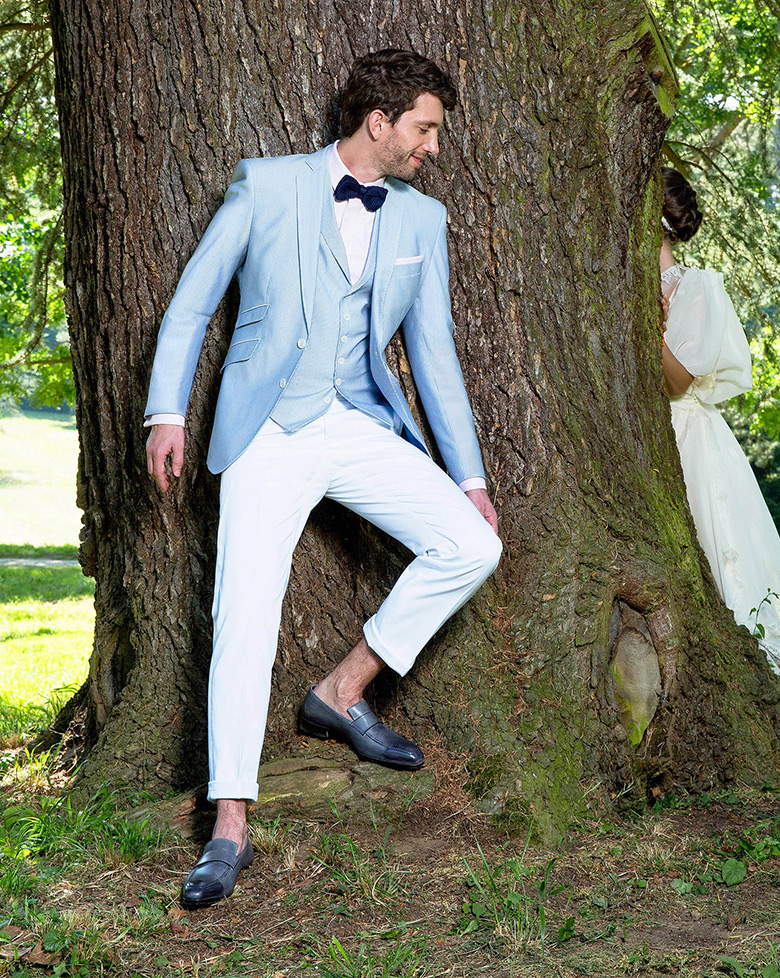 10 costumes bleus pour son mariage. Black Bedroom Furniture Sets. Home Design Ideas