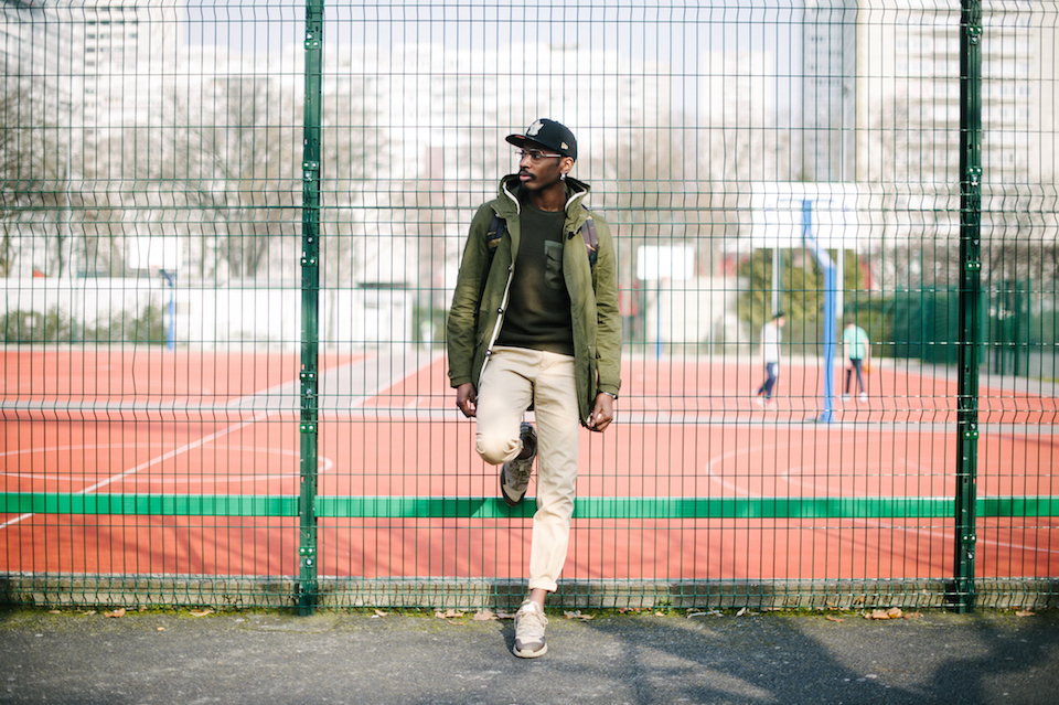 look homme streetwear camouflage militaire