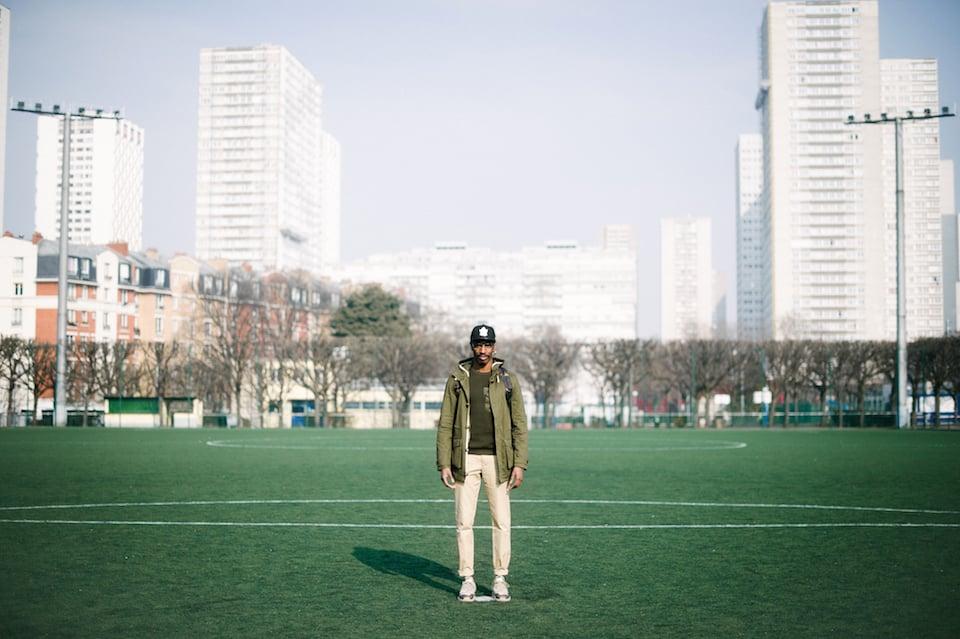 look streetwear camouflage football
