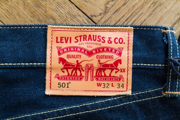 patch cuir levis 501 jeans