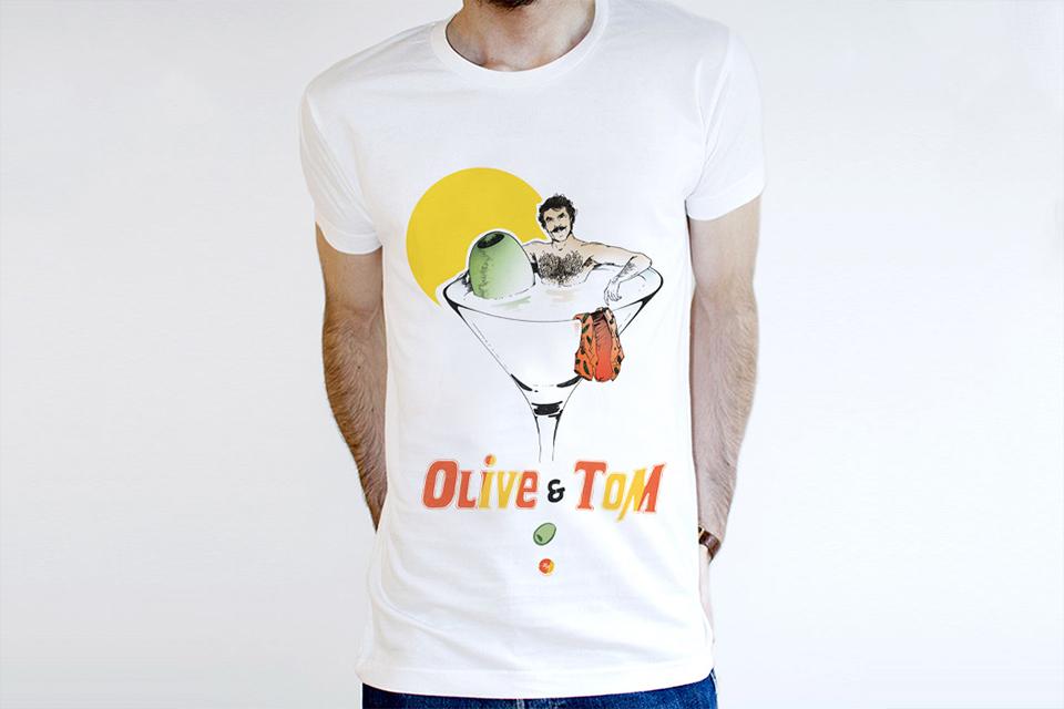 t-shirt kidkult tom selleck homme