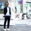 NYC SoHo Costume gris lunettes de soleil