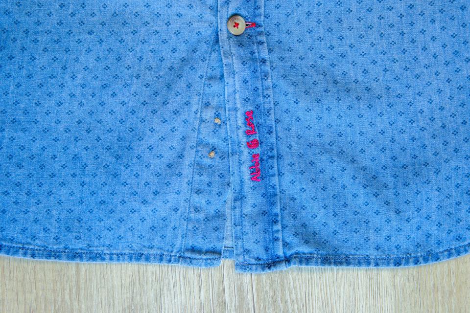 Chemise Abbie Rose Motifs Bleu Bas