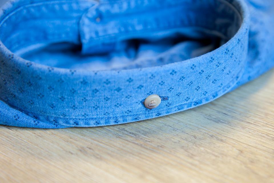 Chemise Abbie Rose Motifs Bleu Col Arriere