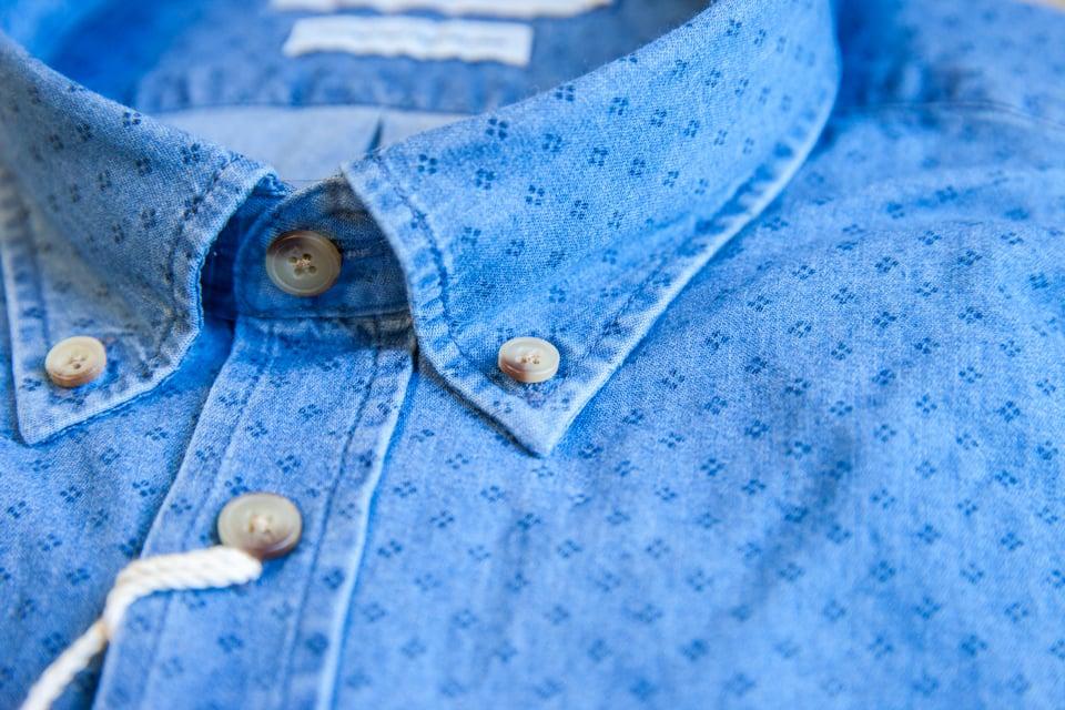 Chemise Abbie Rose Motifs Bleu Col Boutons