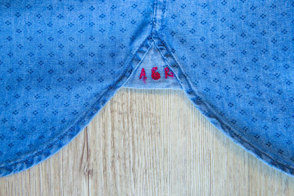 Chemise Abbie Rose Motifs Bleu Hirondelles