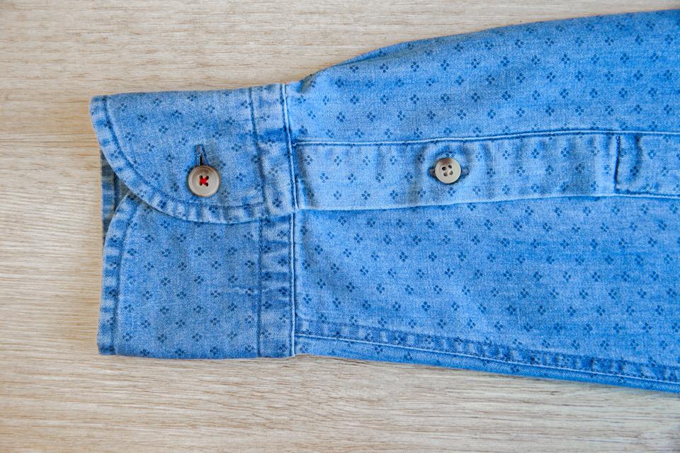 Chemise Abbie Rose Motifs Bleu Poignets