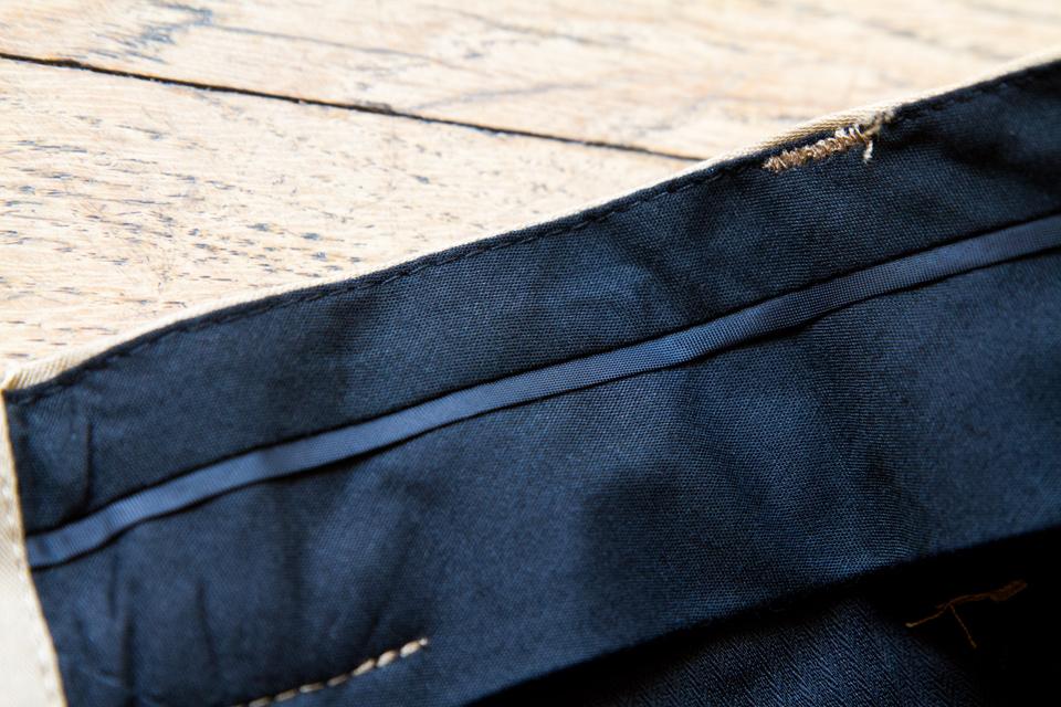 ceinture doublee pantalon