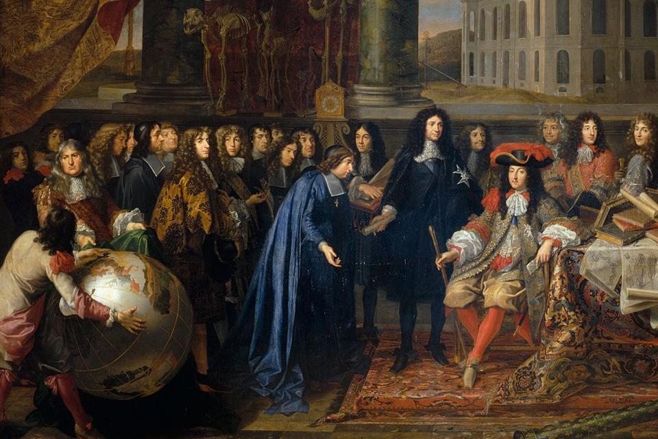 Louis XIV et sa cour portant des cravates