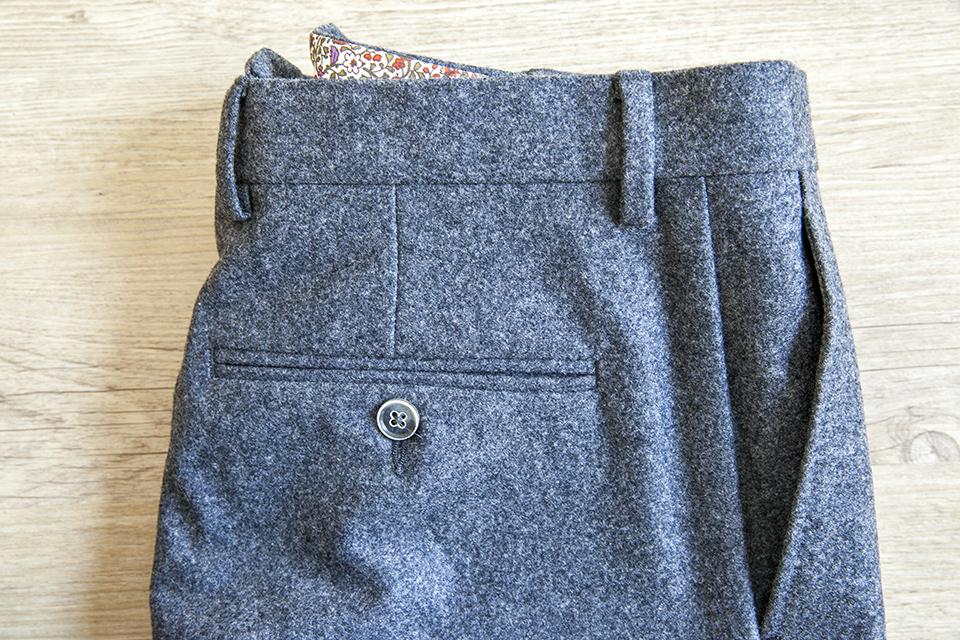 Pantalon Flanelle Poche Arriere