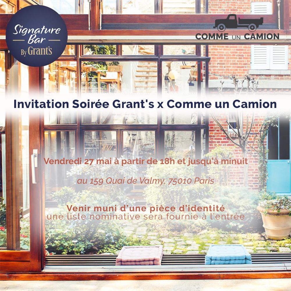 Invitation soirée Grants