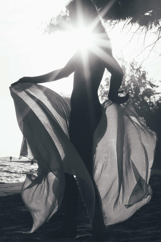 Shade woman body