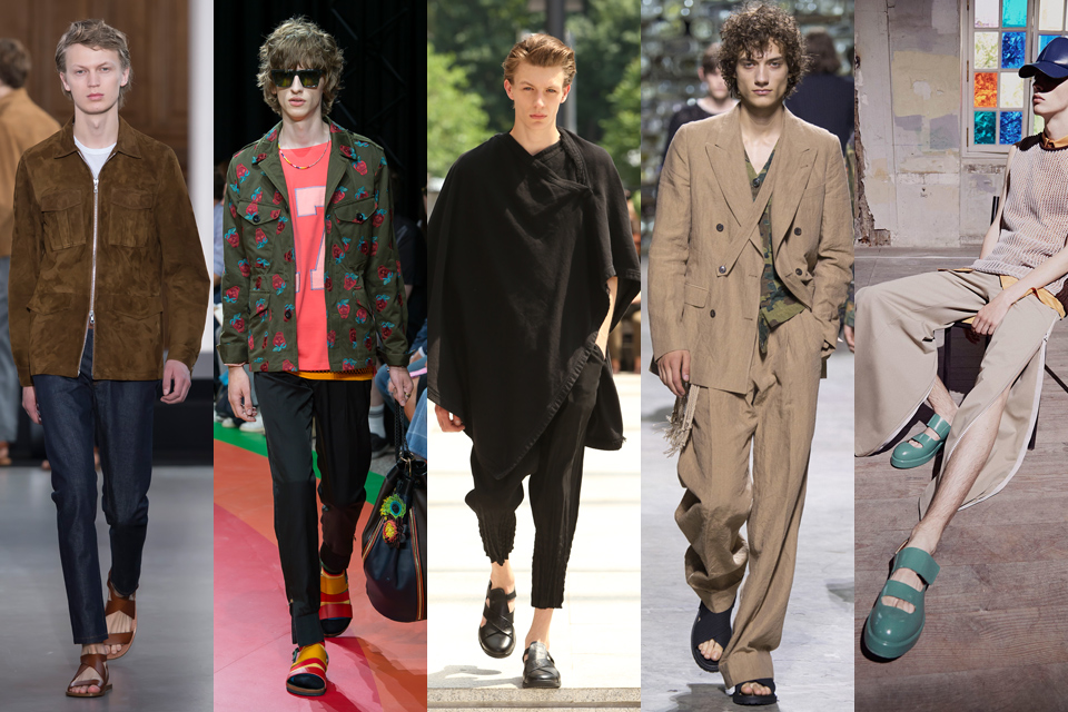 Sandale homme fashion week paris