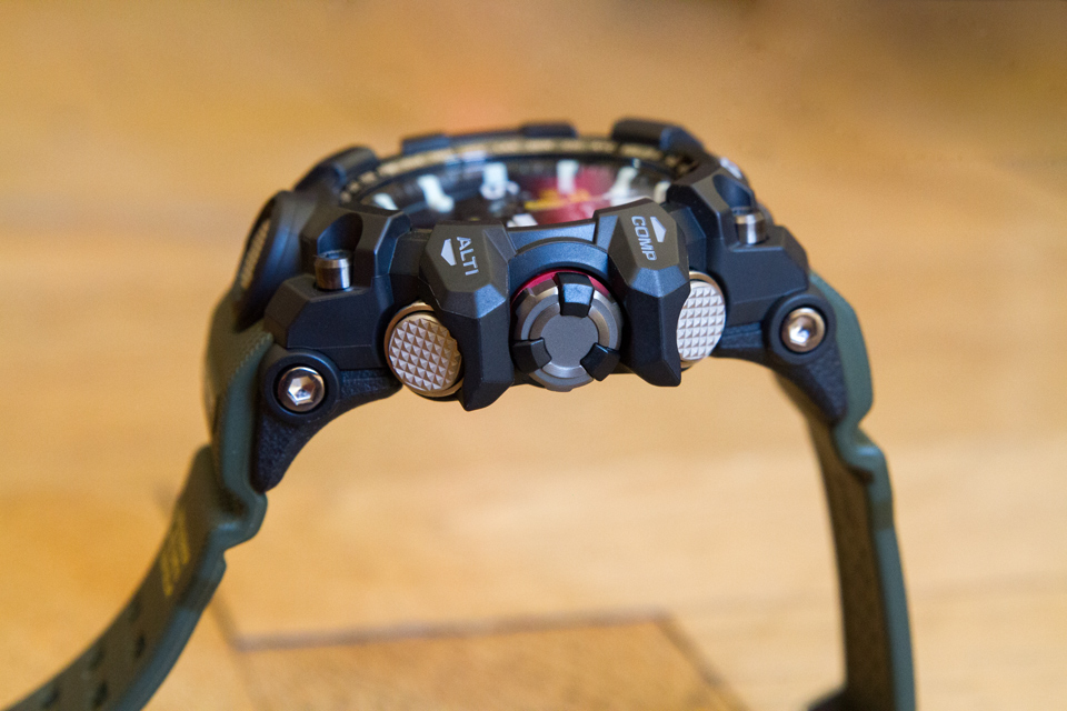 Casio Mudmaster couronne
