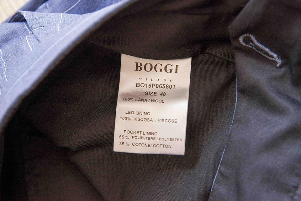 Pantalon Boggi etiquette