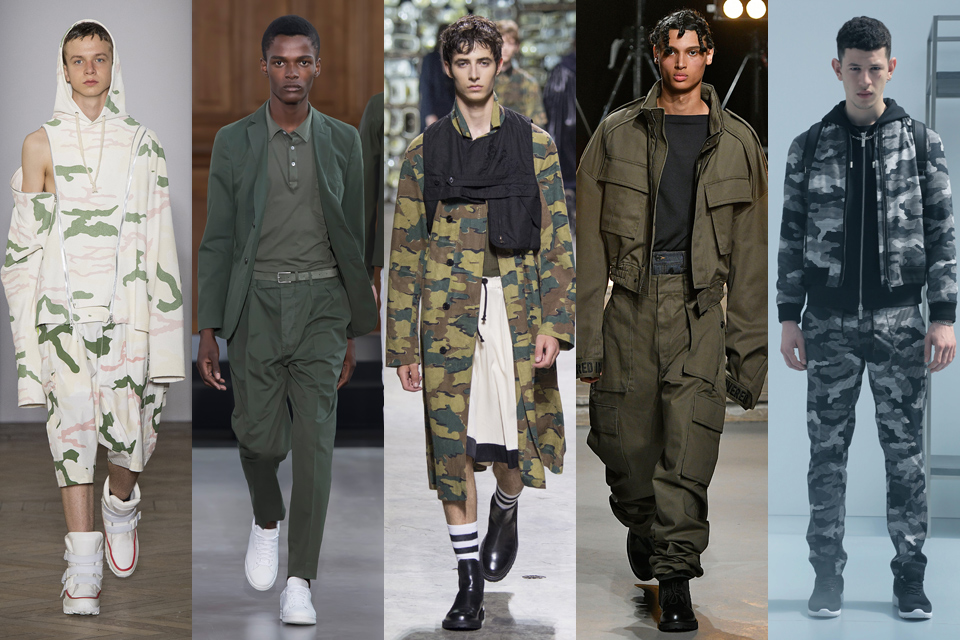 kaki militaire paris fashion week homme